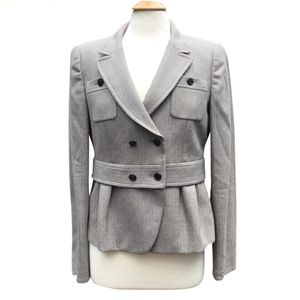 Armani Collezioni Virgin Wool Peplum Blazer